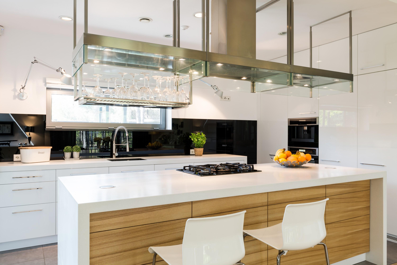 white modular kitchen atom
